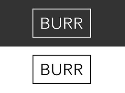Burr.nyc logo simple minimulistic typography ui web design clean ux
