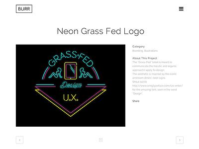 Burr.nyc Portfolio Item Page portfolio interface web design simple ui design ux ui minimalistic clean