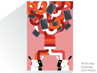 Mobile App Challenge 2014 design vector illustrator illustration brainstorm branding