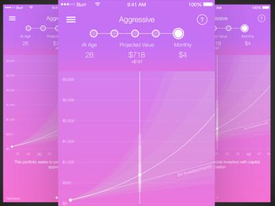 Acorns Investing iOS App mobile app ios vector ui design ux ui sketch 3