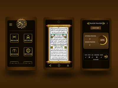 Quran App - Mobile UI/UX Design illustration app ux ui design
