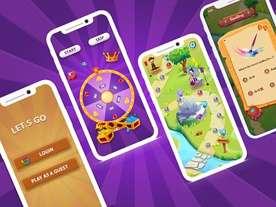Quiz Game App - Mobile UI quiz app quiz game quiz illustration game game design ux ui design app