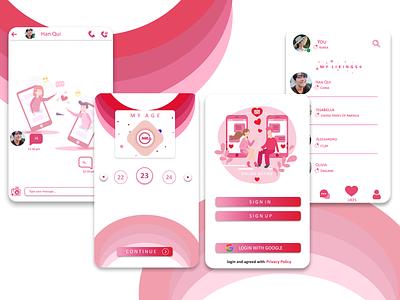 Dating App - Mobile UI illustration ui ux design app