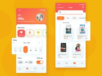 Pets mobile app store pets uiux mobile app