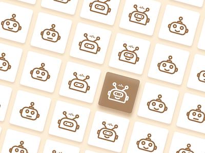 The robot logo vector design branding icon animation