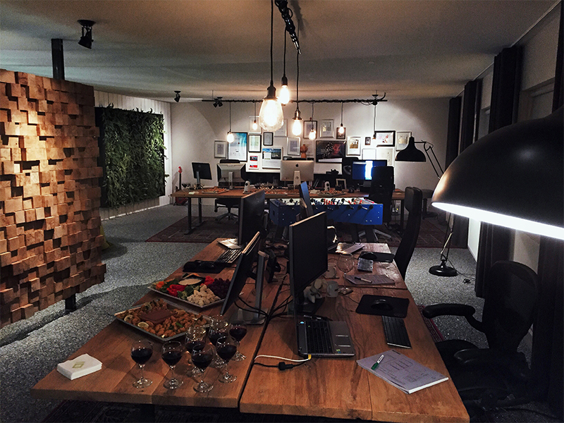 We're done renovating the Keflavik office! web design agency office space design agency keflavik iceland office