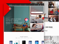 New front page for Vodafone