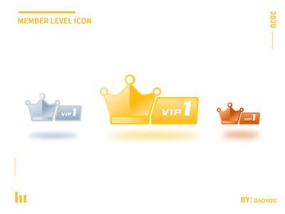 Member level icon ux design icon ui