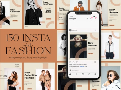 Instagram Creator For fashion CANVA PS trendy sale discount shop promotion instagram stories instagram post template branding minimalist modern fashion design canva instagram