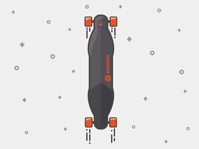Boosted Board design flat logo icon skateboard longboard neistat casey orange board boosted boosted board