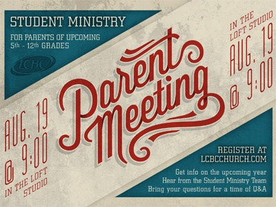 Parent meeting by adam schweitzer dribbble for Parent flyer templates