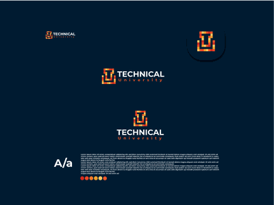 lettermark modern university logo design design logo illustration creative logos coustom logo company brand logo business logo modern logo minimalist logo logo design