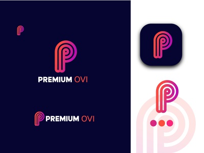 modern p letter logo  design logo design logo letter logo lettermark logo p letter logo
