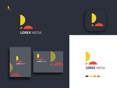 lorex media moder L letter logo design ui design illustration creative logos coustom logo company brand logo business logo logo modern logo logo design media logo lettermark l logo media