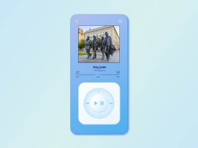 DailyUI-009 beatles music player ui ux daily 100 challenge branding minimal design dailyuichallenge