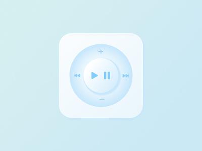 Play/Pause Controls ux retro ipod apple minimal dailyuichallenge