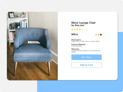 DailyUI 012 furniture daily 100 challenge minimal design dailyuichallenge