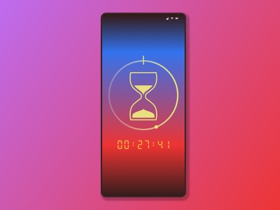 DailyUI 014 hourglass hours retro design ux minimal branding vector logo dailyui014 014 daily 100 challenge dailyuichallenge timer