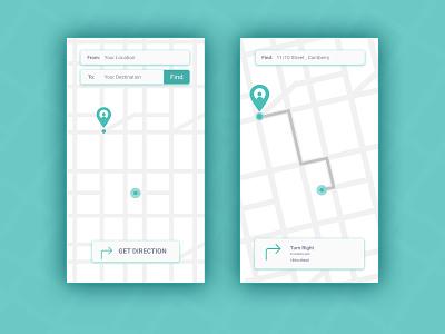 DailyUI-020 Location Tracker dailyui020 020 map locationtracker ui ux daily 100 challenge minimal design dailyuichallenge