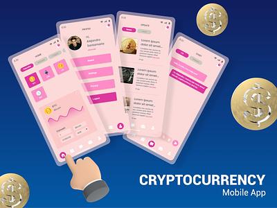 Cryptocurrency Mobile App uiuxdesign uiux vector ux uidesign ui icon design app