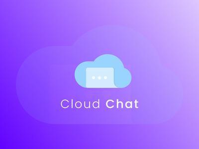 Cloud chat logo idea 2 fresh clouds smooth clean cloud chat cloud idea branding vector logo design