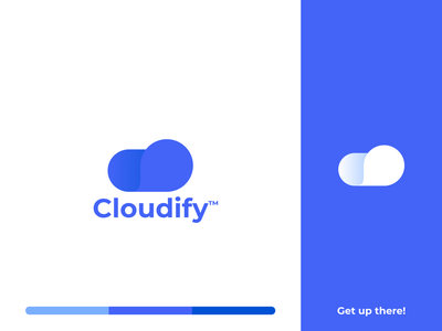 Cloudify logo cloudy sky up there cloud chat cloud logo clouds cloudify cloud simple app smooth fresh clean idea branding vector logo design