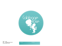 Cabbage Rose Florist Logo
