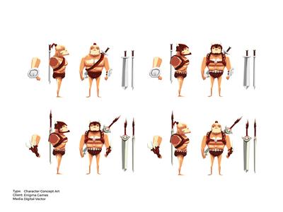 War Gods Online 3D Character Concept