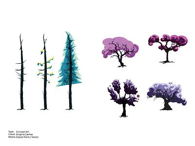 War Gods Online 3D Plant Life Concept