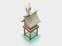Celebi Shinre celibi fanart 3d animation 3d art 3d artist pokemon