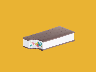 National Ice Cream Sandwich Day 2019 cute blender motion graphics holiday ice cream icecream animated 3d animation