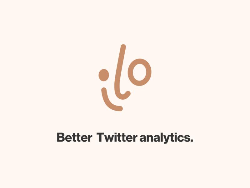 ilo - Better Twitter analytics smile face logo twitter ilo