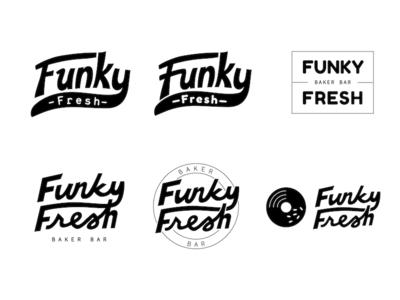 Funky Fresh exploration restaurant cafe funky logo