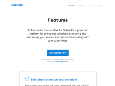 New Subsail marketing site button signup white web website subsail marketing