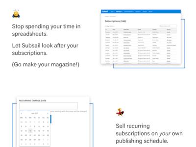 Succinct copy and emojis emoji blue marketing subsail