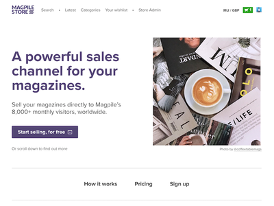 Magpile Store 2018 coffee marketing magpile magazines website site landing
