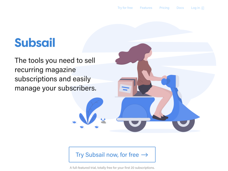 Scooting to subscription success :) by Dan Rowden on Dribbble