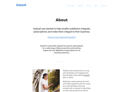 About Subsail + me indie tropical coffee about saas magazine subsail magazines