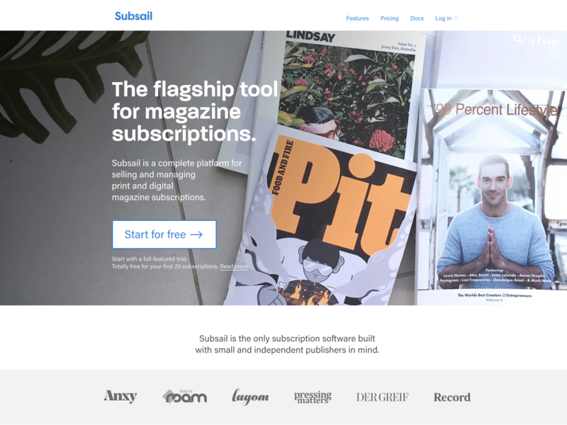 Subsail homepage mags marketing subsail magazines homepage landing