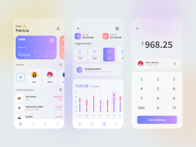 Mobile Banking UI Design Concept financial management uidesigns finance app ewallet money app mobilebanking glassy uiux ux ui