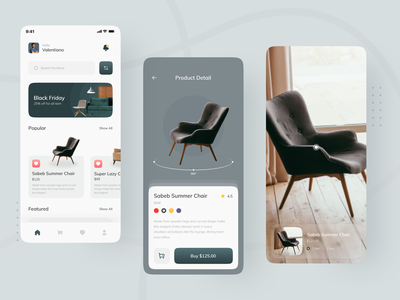 OOMAH -  Furniture Apps UI Kit ios apps green clean ui interiorui ecommerce furniture store furniture app mobile app mobile ui uiux uxdesign uidesign ux ui