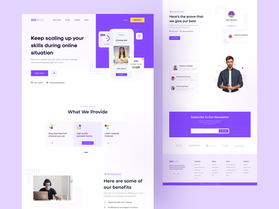 Seenow - E-Learning Platform Landing Page course streaming studying purple purple website schoolfromhome workfromhome socialdistancing onlinemeeting onlinecourse website design website landingpagedesign landingpage uiuxdesign uiux uxdesign uidesign ux ui