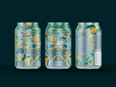Lord Grey competition beer can fruit lemons lettering label design beer label typography design drawing graphic character texture illustration