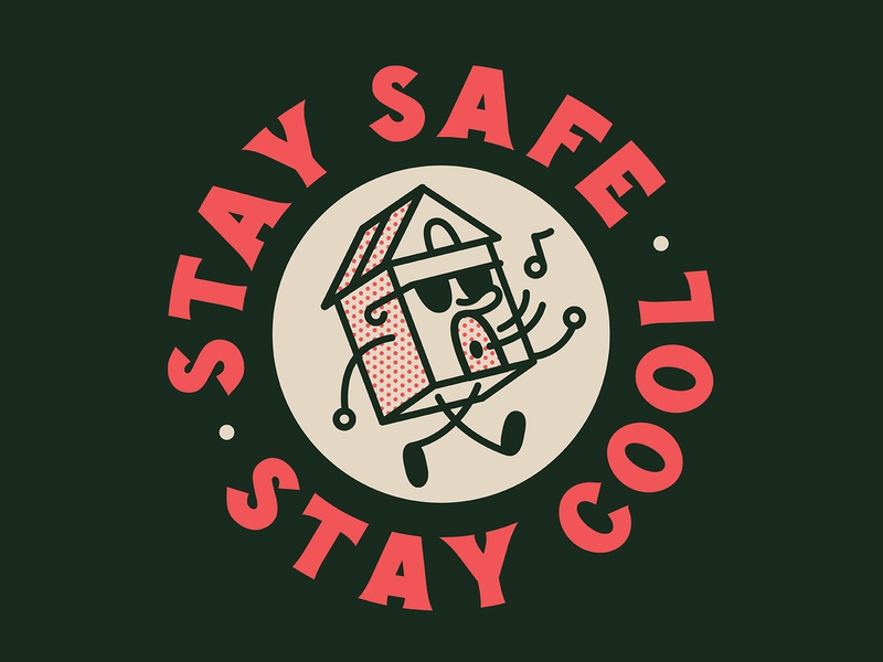 Stay Safe. Stay Cool. customtype halftone characterdesing badge logotype lettering typography vintage retro graphic character vector illustration