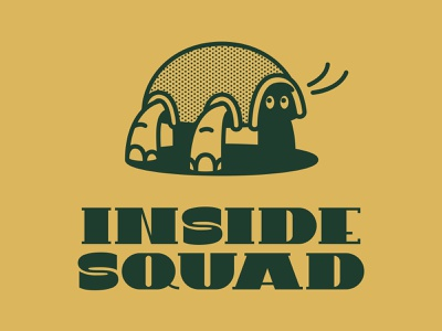 Inside Squad vintage retro halftone tshirtdesign isolation tortoise lettering typography characterdesign tshirt graphic character vector illustration