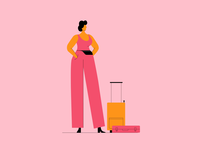 Waiting... 2d animation motion graphic pigeon traveling woman characterdesign motiongraphics loop gif animation graphic character vector illustration