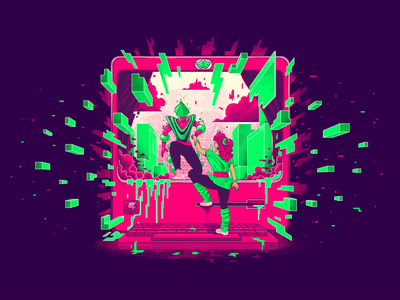 Electric Dreams isolation festival animation motion design loop 2d design motion characterdesign pixel art pixels gif retro graphic character texture illustration