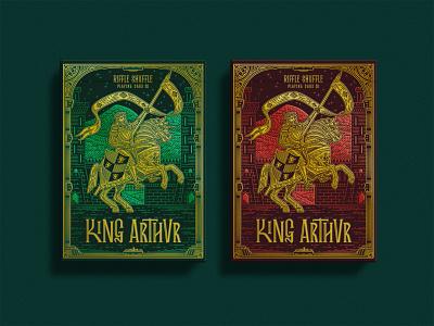 King Arthur characterdesign flag swords king arthur king lettering typography branding retro drawing graphic character vector texture illustration