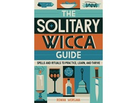 Solitary Wicca Guide potions dagger book cover candle rituals magic wicca lettering typography editorial retro graphic vector texture illustration