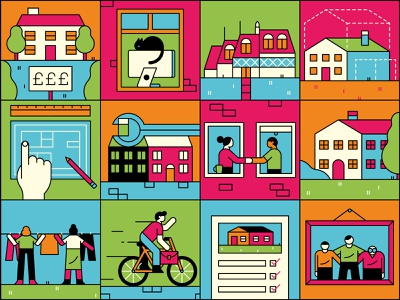 2030 Icons bicycle isolation cat characterdesign linework icondesign home icons editorial graphic character vector illustration